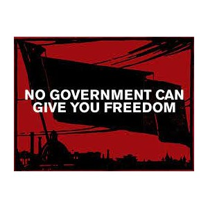 No government can give you freedom Sticker